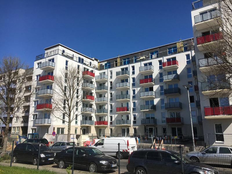 Wohnanlagenprojekte haus balkone cottbus